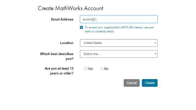 Campus-Wide License 포털이 있는 대학교에 재학 중인 경우에는 다음 단계를 따라 MathWorks 계정을 생성하고 시작할 수 있습니다.