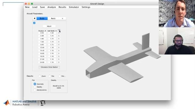Build interactive design tools to reduce development time. Zachary Leitzau from Embry-Riddle Aeronautical University demonstrates the use of a self-built app to help design a model airplane.