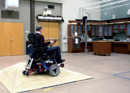 HERL's MEBot wheelchair adapts to different terrains.