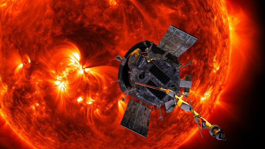 Figure 1. Artist's rendition of the Parker Solar Probe approaching the Sun. Image courtesy JHU APL. http://parkersolarprobe.jhuapl.edu/