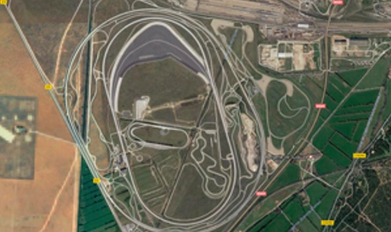 그림 2. 프랑스 미라마의 BMW 성능 시험장.