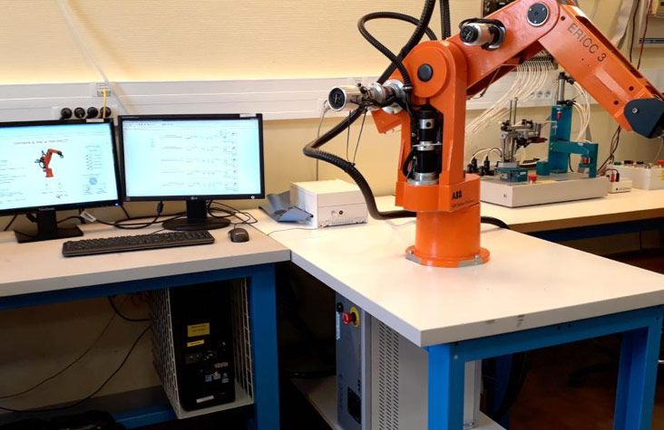 Figure 1.  The ABB robotic arm, named ERICC 3, in the lab.