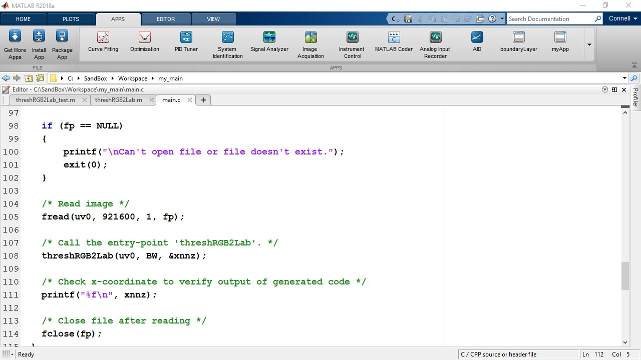 Learn how to generate editable, customizable code from MATLAB code using MATLAB Coder.