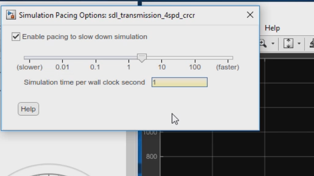 Run simulations at wall clock speed or other specified pace for improved visualization