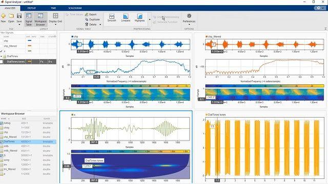 신호 분석기 앱으로 MATLAB에서 전처리, 필터링, 특징 추출 등 신호 분석 작업을 수행하는 방법을 알아봅니다.
