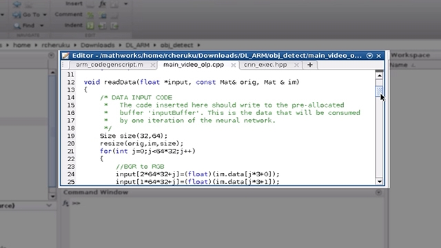 See how you can generate code from a trained deep neural network in MATLAB for ARM processors showing pedestrian detection on a Raspberry Pi 3 at 6 fps.