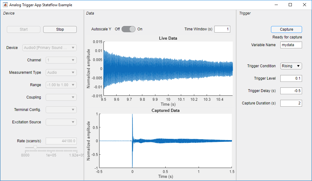 Analog Trigger App by Using Stateflow Charts - MATLAB ...