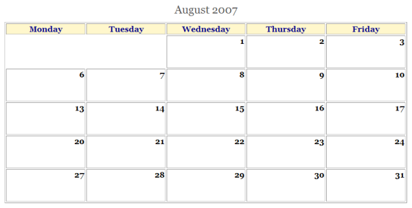 Calendar Graphic Generator : Html calendar generator file exchange matlab central