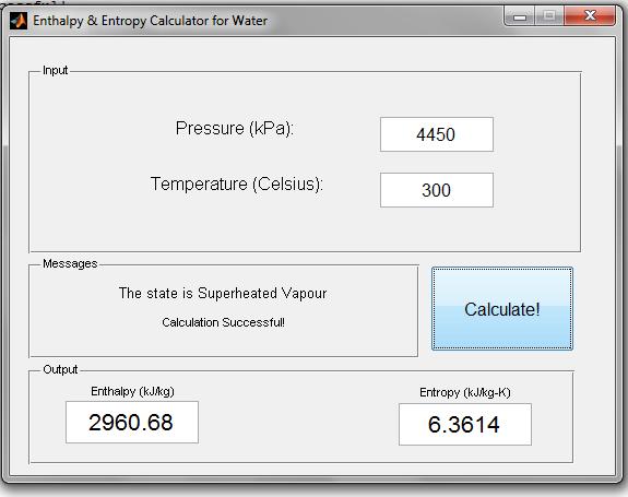 Enthalpy Calculator (GUI) - File Exchange - MATLAB Central