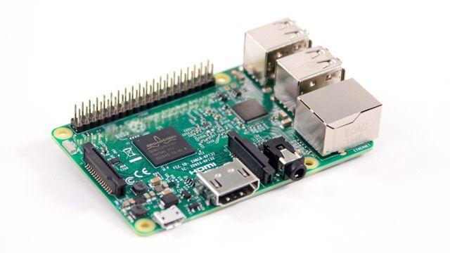 Raspberry Pi 보드 사진.