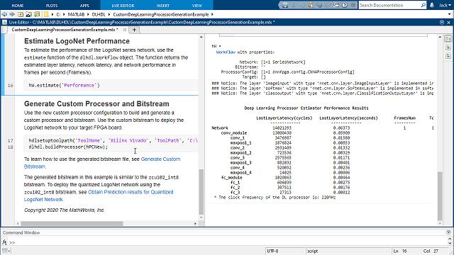 딥러닝 프로세서의 FPGA 구현을 사용자 지정하고 합성 가능 RTL을 생성할 수 있습니다.