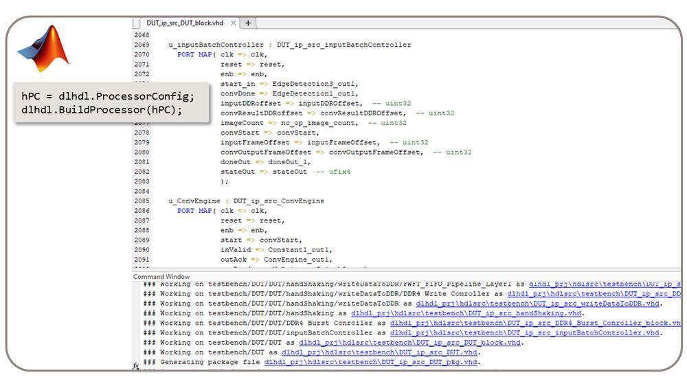 dlhdl.BuildProcessor 클래스는 사용자 지정 딥러닝 프로세서에서 합성 가능한 RTL을 생성합니다.