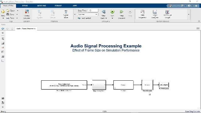 Simulink에서 프레임 기반 처리를 사용하여 모델 시뮬레이션의 속도를 높이고 실시간 시스템의 동작을 모방하는 방법을 알아봅니다.