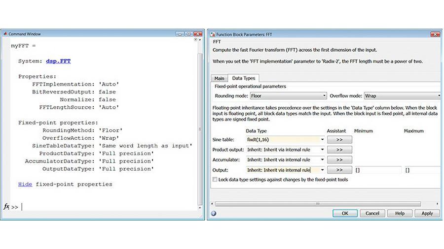 고정소수점 데이터형을 위한 FFT 속성