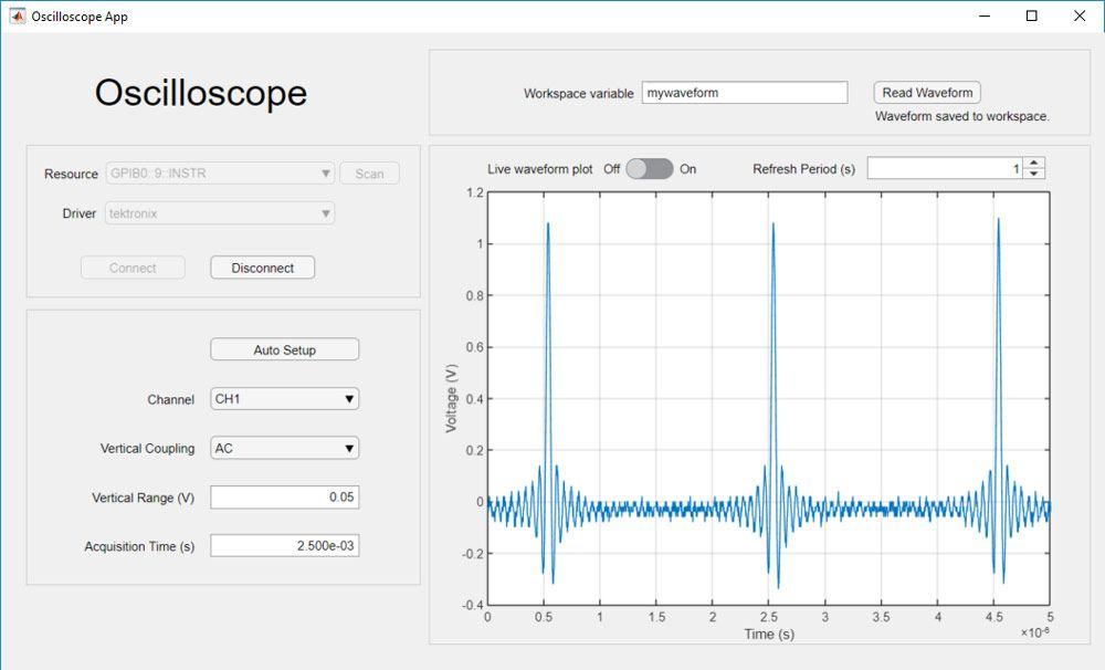 데이터를 수집하고 범위 설정을 조정하는 앱.