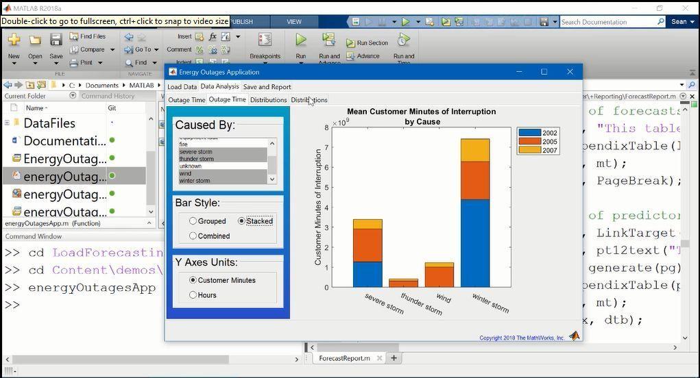 이 비디오에서는 MATLAB Report Generator를 소개합니다. 먼저 자동 리포트 생성 기능을 사용하는 애플리케이션 예제를 보여줍니다. 그런 다음 MATLAB 코드를 사용하여 리포트를 생성하는 간단한 예제와 템플릿을 사용하여 리포트를 만드는 두 가지 예제가 제시됩니다.