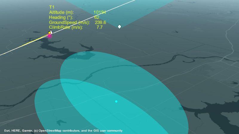 항로에 걸쳐 항공기를 추적하는 레이더 시스템
