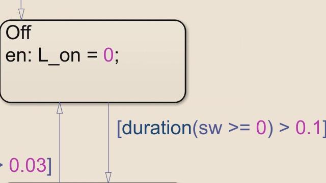 Stateflow에서 duration과 elapsed 연산자를 사용하여 더욱 정밀하게 상태 머신 로직을 표현합니다.
