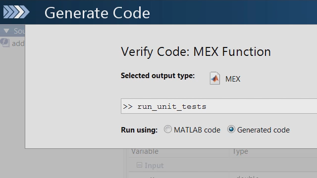 MATLAB 유닛 테스트 프레임워크를 사용하여 MATLAB 코드의 변경 사항 때문에 MATLAB Coder에 의해 생성된 C 코드에서 유닛 테스트 실패가 일어나는지 확인합니다.