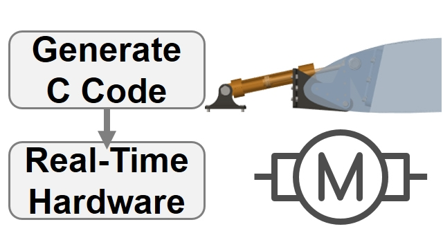 메카트로닉 액츄에이터 모델을 C 코드로 변환하고 hardware-in-the-loop 구성에서 시뮬레이션을 수행합니다. Simscape 파라미터는 실시간 대상에 맞게 튜닝됩니다.