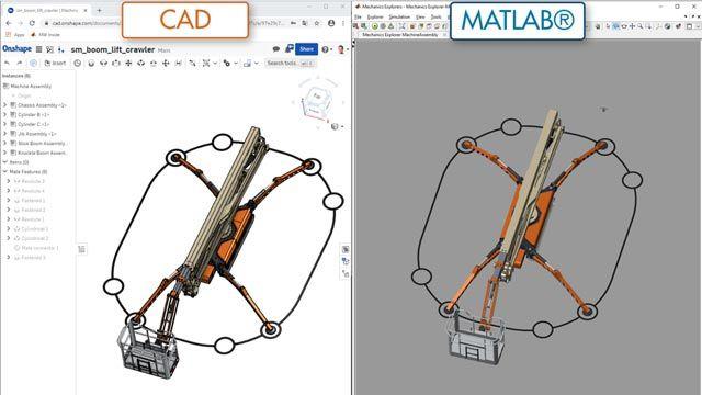 붐 리프트, CAD 가져오기
