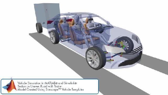 Simscape를 사용한 서스펜션 설계 시뮬레이션을 애니메이션으로 확인할 수 있습니다.
