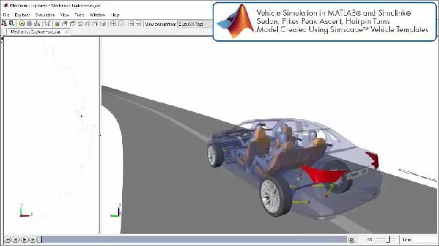 Simscape를 사용한 파워트레인 설계 시뮬레이션을 애니메이션으로 확인할 수 있습니다.