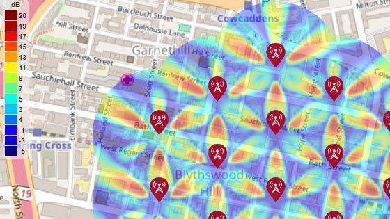 5G Urban Macro-Cell 테스트 환경용 SINR 맵