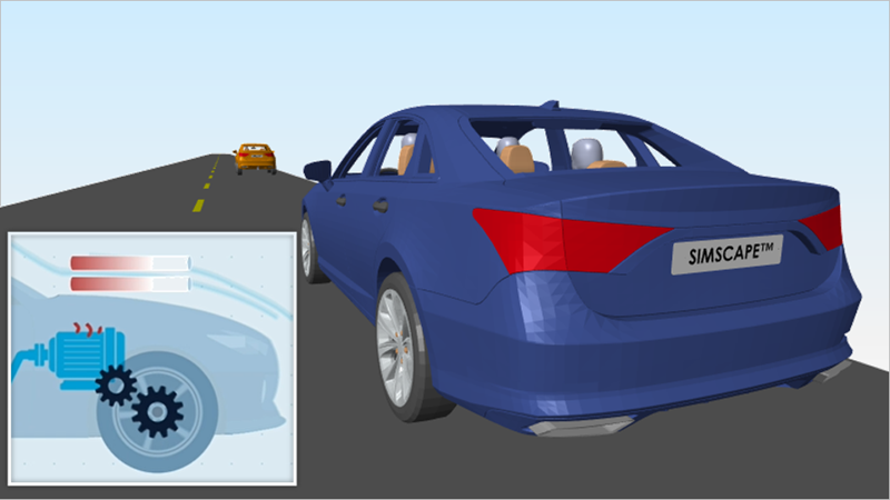 Simscape에서 배터리 전기차를 모델링하여 물리적 시스템을 모델링하는 방법을 알아봅니다. 컴포넌트 크기를 조정하고 설계 결정을 내릴 수 있도록 전기, 기계 및 유체 컴포넌트 도식을 모델로 조합하는 방법을 알아봅니다.