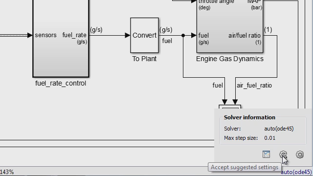 Set up and simulate your Simulink model more quickly with automatically selected solver settings.