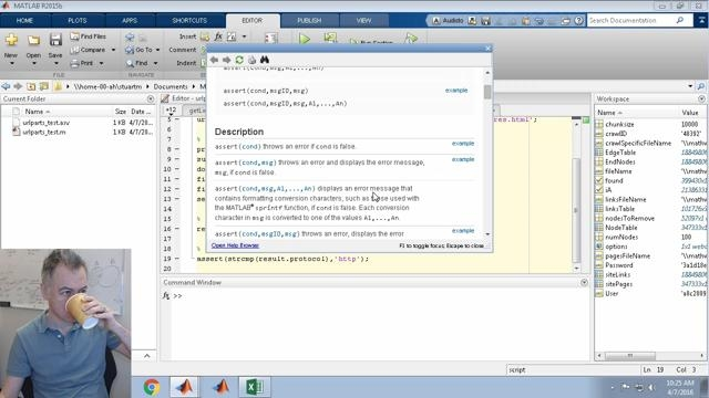 Here, I create a function to break up a URL string into components such as protocol, hostname, file path, query parameters, similar to the fileparts function in MATLAB.