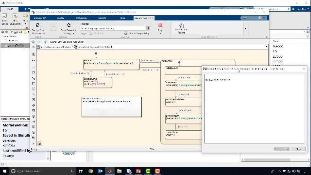 Testing, verification and validation is performed for the drawworks control logic using formal methods. Test cases are generated at the click of a button and modeling errors are discovered.