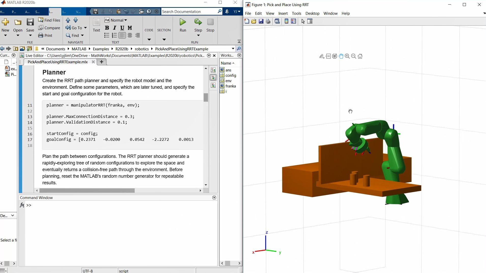 Learn about the bi-directional rapidly-exploring random tree (RRT) algorithm for robot manipulators, and how to tune some of the parameters to design robot motion planners.