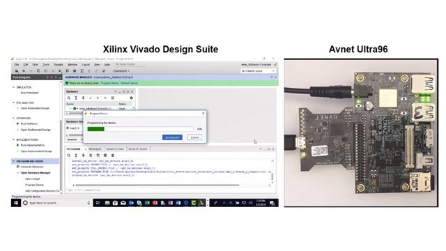 Synthesize, implement, and program the color detection algorithm onto the Avnet Ultra96 hardware using Vivado.