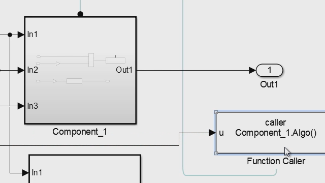 Call Simulink Function blocks within a subsystem hierarchy.
