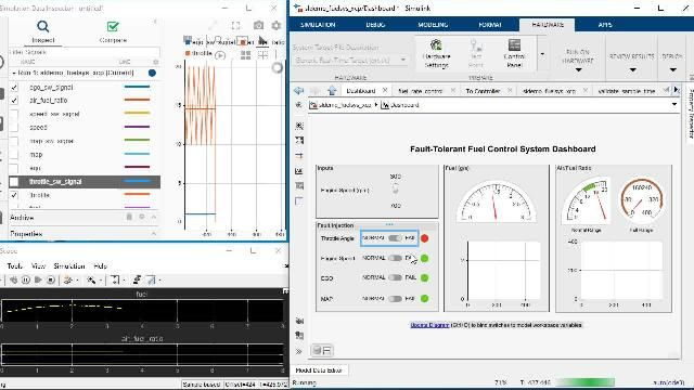 Generate C and C++ code from Simulink and Stateflow models using Simulink Coder.