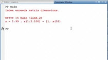 This is a common programming pattern that I see with new MATLAB users: They put more than one command per line in MATLAB file. This can make it harder to visually take in a file, and because profiler and error messages give information back based on