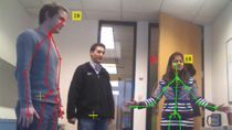 Acquire image and skeletal data from Microsoft Kinect For Windows into MATLAB . Kinect is a natural interaction device with an RGB camera, 3-D depth sensor, and 4-channel microphone.
