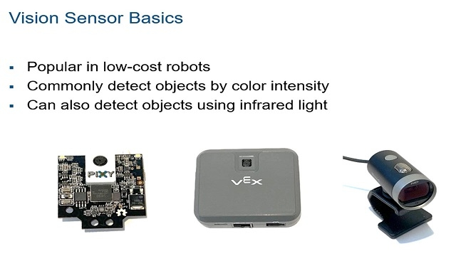 Learn how to program vision sensors to be integrated into robot autonomy algorithms such as object tracking and automatic object grasping.